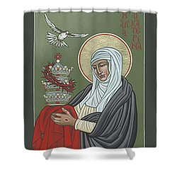 Shower Curtain featuring the painting St Catherine Of Siena- Guardian Of The Papacy 288 by William Hart McNichols
