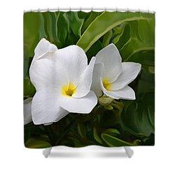 St. Cecelias' Floral Show Shower Curtain