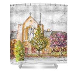 St. Charles Borromeo Catholic Church, Bloomington, Indiana Shower Curtain