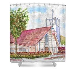 St. Charles Catholic Church, San Diego, California Shower Curtain