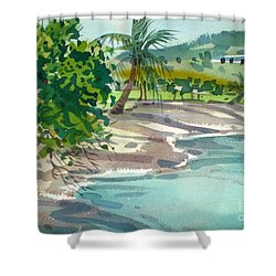 St. Croix Beach Shower Curtain by Donald Maier