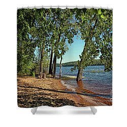 St Croix River Shoreline Shower Curtain