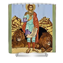 St. Daniel In The Lion's Den - Lwdld Shower Curtain