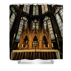 Shower Curtain featuring the photograph St. Elizabeth Church by David Morefield