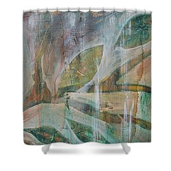 Shower Curtain featuring the painting St Fancis 1 by Jocelyn Friis