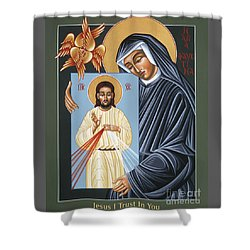 St Faustina Kowalska Apostle Of Divine Mercy 094 Shower Curtain