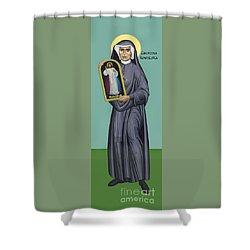 St. Faustina Kowalska - Rlfak Shower Curtain