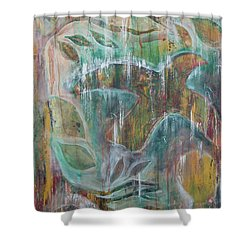 Shower Curtain featuring the painting St Francis 3 by Jocelyn Friis