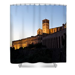 St Francis Assisi At Sundown Shower Curtain by Jon Berghoff