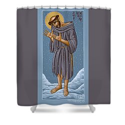 St Francis Wounded Winter Light 098 Shower Curtain
