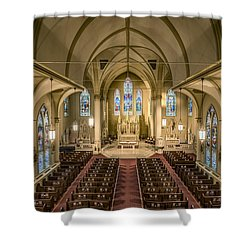 St. Francis Xavier Cathedral Shower Curtain by Andy Crawford
