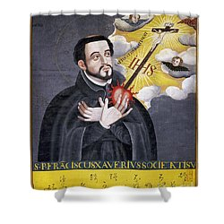 St. Francis Xavier Shower Curtain by Granger