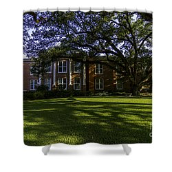 St. Francisville Courthouse Side View Shower Curtain by Ken Frischkorn