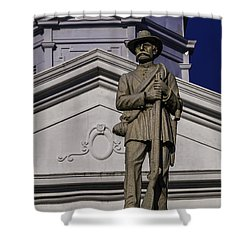 Shower Curtain featuring the photograph St. Francisville Courthouse Two by Ken Frischkorn