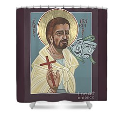 Shower Curtain featuring the painting St Genisius Patron Of Actors 279 by William Hart McNichols