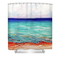 St. George Island Breeze Shower Curtain by Ecinja Art Works