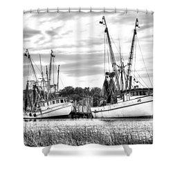 St. Helena Shrimp Boats Shower Curtain by Scott Hansen