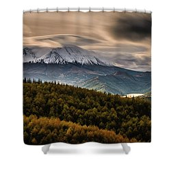 Shower Curtain featuring the photograph St. Helens Wrath by Dan Mihai