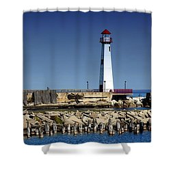 St. Ignace Lighthouse Shower Curtain