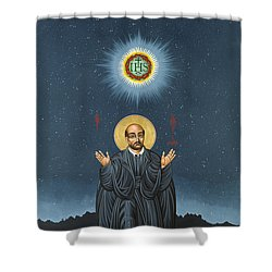 St. Ignatius In Prayer Beneath The Stars 137 Shower Curtain