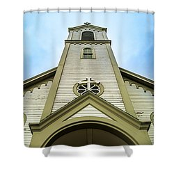 Shower Curtain featuring the photograph St. Ignatius Of Loyola Church And Cemetary by Onyonet  Photo Studios
