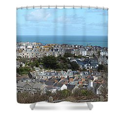 Shower Curtain featuring the photograph St Ives, Cornwall, Uk by Nicholas Burningham