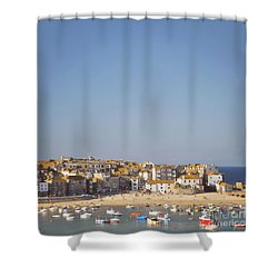 Shower Curtain featuring the photograph St Ives Harbour by Lyn Randle