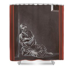 Shower Curtain featuring the painting  St John Of The Cross In The Dark Night Of The Soul 290 by William Hart McNichols