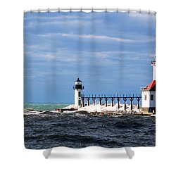 St. Joseph Lighthouse - Michigan Shower Curtain