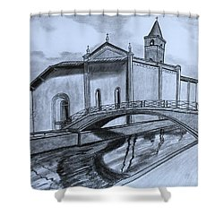 St. Jules Cathedral  Shower Curtain