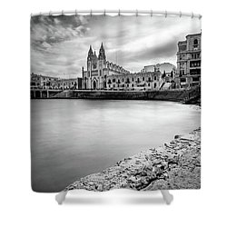 Shower Curtain featuring the photograph St. Julian's Bay by Okan YILMAZ