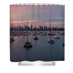 St. Kilda Breakwater Shower Curtain