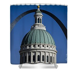 St. Louis Arch Shower Curtain by Andrea Silies