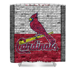 St Louis Cardinals Brick Wall Painting By Joe Hamilton