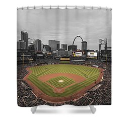 St. Louis Cardinals Busch Stadium Creative 17 Shower Curtain