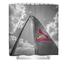 St. Louis Cardinals Busch Stadium Gateway Arch 1 Shower Curtain