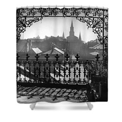 St Louis Cathedral In Frame Shower Curtain