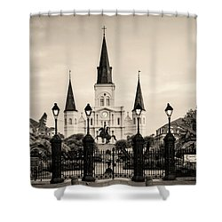 St. Louis Cathedral Sepia Shower Curtain