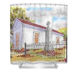 St. Louis Catholic Church, La Grange, California Shower Curtain