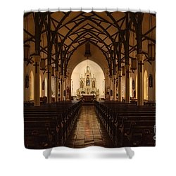 St. Louis Catholic Church Of Castroville Texas Shower Curtain