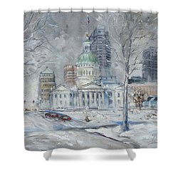 St. Louis Downtown Old Courthouse Shower Curtain
