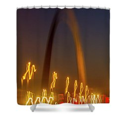 St Louis Heartbeat Shower Curtain by Garry McMichael
