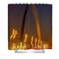 St Louis Heartbeat Shower Curtain