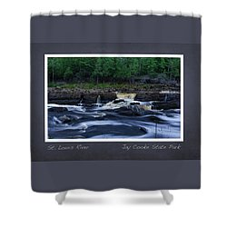 Shower Curtain featuring the photograph St Louis River Scrapbook Page 1 by Heidi Hermes