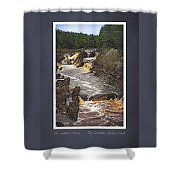 Shower Curtain featuring the photograph St Louis River Scrapbook Page 3 by Heidi Hermes