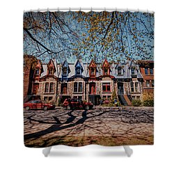 St. Louis Row Houses - Montreal Shower Curtain
