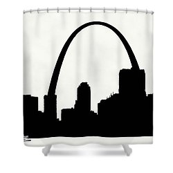 St Louis Silhouette With Boats 2 Shower Curtain