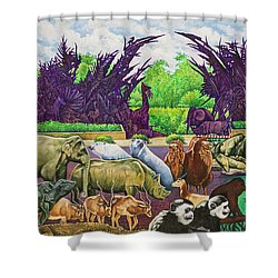 St. Louis Zoo Shower Curtain