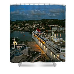 St. Lucia In The Evening Shower Curtain