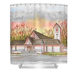 St. Malachy Church, Tehachapi, California Shower Curtain